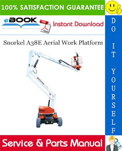 Snorkel A38E Aerial Work Platform Service & Parts Manual