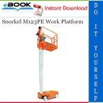 Snorkel M123PE Work Platform Service & Parts Manual