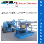 UpRight AB46RT Aerial Work Platform Service & Parts Manual
