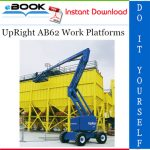UpRight AB62 Work Platforms Service & Parts Manual