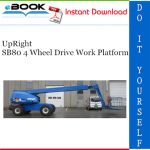 UpRight SB80 4 Wheel Drive Work Platform Service & Parts Manual