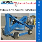 UpRight SP37 Aerial Work Platform Service & Parts Manual
