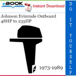 Johnson Evinrude Outboard 48HP to 235HP Service Repair Manual