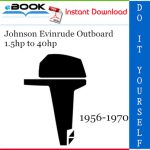 Johnson Evinrude Outboard 1.5hp to 40hp Service Repair Manual