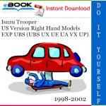 Isuzu Trooper US Version Right Hand Models EXP UBS (UBS UX UE UA VX UP) Service Repair Manual