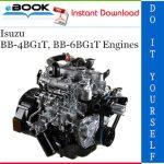 Isuzu BB-4BG1T, BB-6BG1T Engines Service Repair Manual