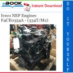 Iveco NEF Engines F4CE0354A - (334T/M2) Service Repair Manual