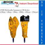 CNH Hydraulic hammers CB Series (CB32 - CB45 - CB65 - CB85 - CB120 - CB150) Service Repair Manual