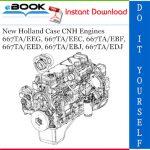 New Holland Case CNH Engines 667TA/EEG, 667TA/EEC, 667TA/EBF, 667TA/EED, 667TA/EBJ, 667TA/EDJ Service Repair Manual