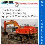 Hitachi EX750-5, EX800H-5 Excavator Equipment Components Parts