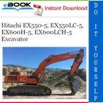 Hitachi EX550-5, EX550LC-5, EX600H-5, EX600LCH-5 Excavator Parts Catalog
