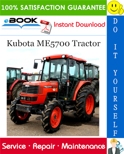 Kubota Me5700 Tractor Service Repair Manual Manual Guide