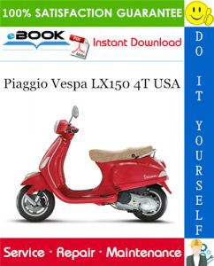 Piaggio Vespa LX150 4T USA Service Repair Manual