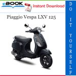 Piaggio Vespa LXV 125 Service Repair Manual