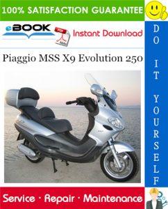 Piaggio MSS X9 Evolution 250 Service Repair Manual