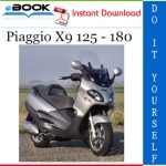 Piaggio X9 125 - 180 Service Repair Manual