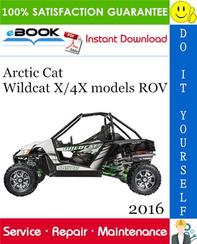 2016 Arctic Cat Wildcat X  4x Models Rov  Recreational Off
