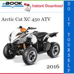 2016 Arctic Cat XC 450 ATV Service Repair Manual