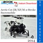 2014 Arctic Cat ZR/XF/M 2-Stroke Snowmobile Service Repair Manual