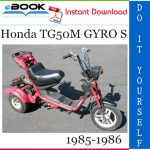 Honda TG50M GYRO S Scooter Service Repair Manual 1985-1986 Download