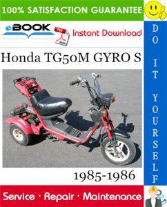 Honda TG50M GYRO S Scooter Service Repair Manual 1985-1986 Download