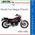 Honda V30 Magna VF500C Motorcycle Service Repair Manual 1984-1985 Download