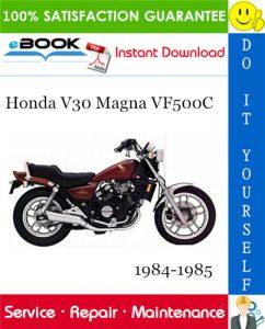 Honda V30 Magna VF500C Motorcycle Service Repair Manual 1984-1985 Download