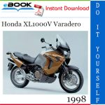 1998 Honda XL1000V Varadero Motorcycle Service Repair Manual