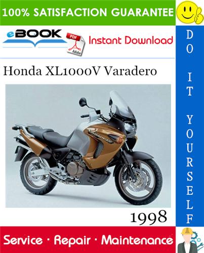 1998 Honda Xl1000v Varadero Motorcycle Service Repair