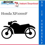 Honda XF1000F Motorcycle Service Repair Manual