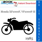 1985 Honda XF1000F, VF1000F-II Motorcycle Service Repair Manual