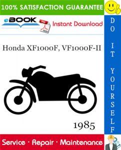 1985 Honda XF1000F, VF1000F-II Motorcycle Service Repair Manual