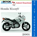 2001 Honda XL125V Motorcycle Service Repair Manual
