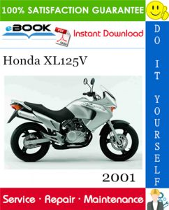 2001 Honda XL125V Motorcycle Service Repair Manual