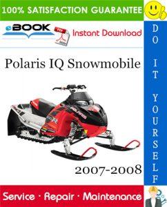 Polaris IQ Snowmobile Service Repair Manual 2007-2008 Download
