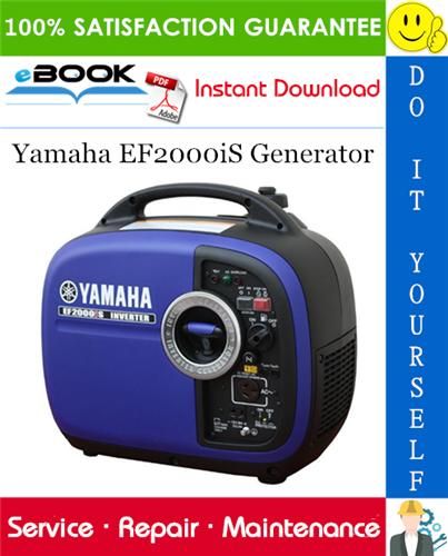 Yamaha Ef2000is Generator Service Repair Manual