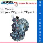 ZF Marine ZF 500, ZF 500 A, ZF510 A Service Repair Manual