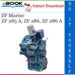 ZF Marine ZF 285 A, ZF 286, ZF 286 A Service Repair Manual