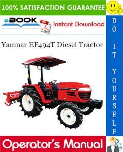 Yanmar EF494T Diesel Tractor Operator's Manual