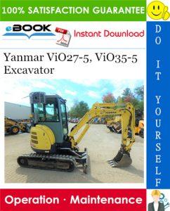 Yanmar ViO27-5, ViO35-5 Excavator Operation & Maintenance Manual