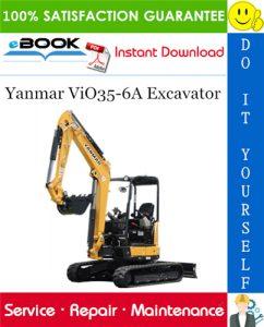 Yanmar ViO35-6A Excavator Service Repair Manual