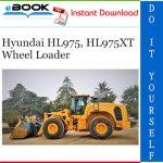 Hyundai HL975, HL975XT Wheel Loader Operator's Manual