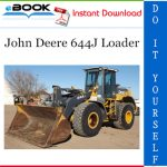 John Deere 644J Loader Repair Technical Manual