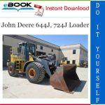 John Deere 644J, 724J Loader Operation and Tests Technical Manual