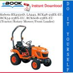 Kubota BX2350D, RCK48-23BX-EU, RCK54-23BX-EU, RCK60B-23BX-EU, LA243