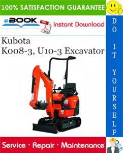 Kubota K008-3, U10-3 Excavator Service Repair Manual