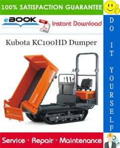 Kubota KC100HD Dumper Service Repair Manual