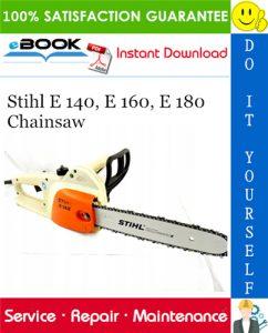 Stihl E 140, E 160, E 180 Chainsaw Service Repair Manual