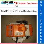 Stihl FS 500, FS 550 Brushcutters Service Repair Manual
