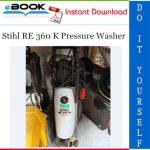 Stihl RE 360 K Pressure Washer Service Repair Manual